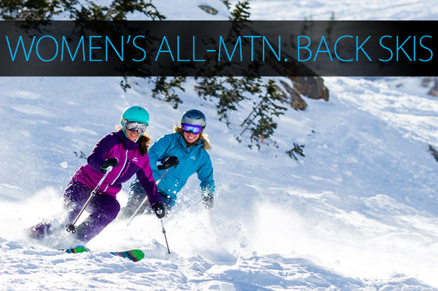 Women's 2015 All-Mountain Back Skis.