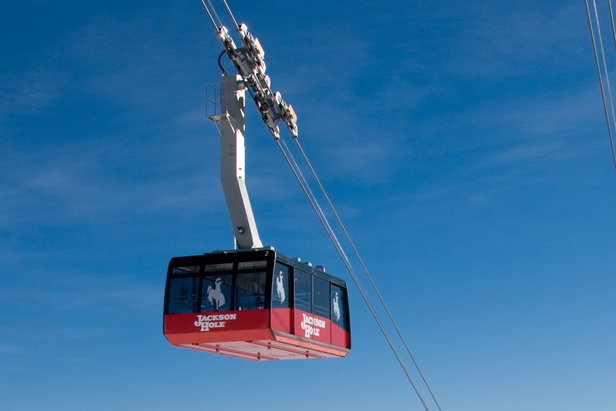 Close up on Jackson Hole gondola