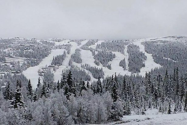 Her har snøen kommet ©Kvitfjell