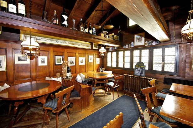 Elsie bar housed in a two-storey wooden chalet in Zermatt  - © Elsie Bar