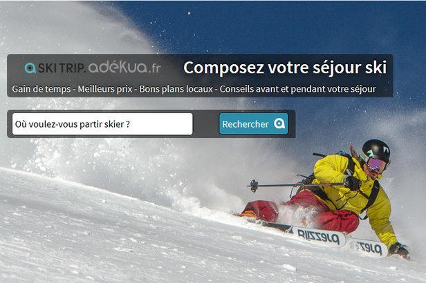 Via le site Ski Trip Adékua, composez vous même votre séjour au ski sur mesure