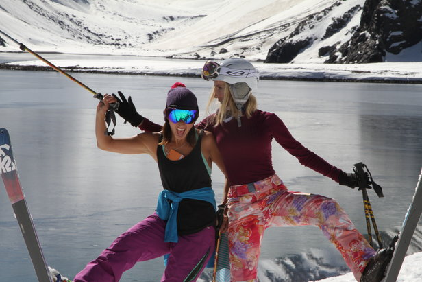 When you ski on women's skis, you're less tired. When you're less tired, you have more fun.  - © Ski with Kim