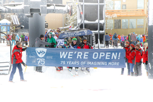 First chair on opening day in Winter Park, Nov. 15, 2014, launches 75th anniversary.