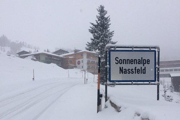 Weerbericht: sneeuw en zon. ©Nassfeld Facebook