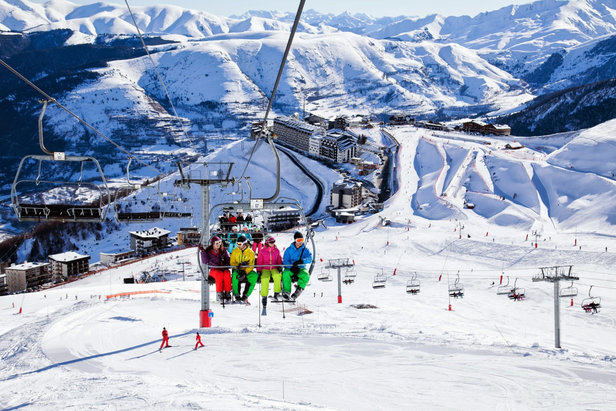 Sur le domaine skiable de Saint Lary Soulan