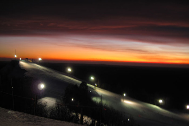Caberfae Peaks MI sunset over South Peak
