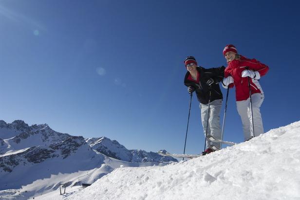 Allgäu Österreich Skifahrer