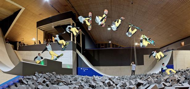 Indoor-Freestyle-Halle in Laax