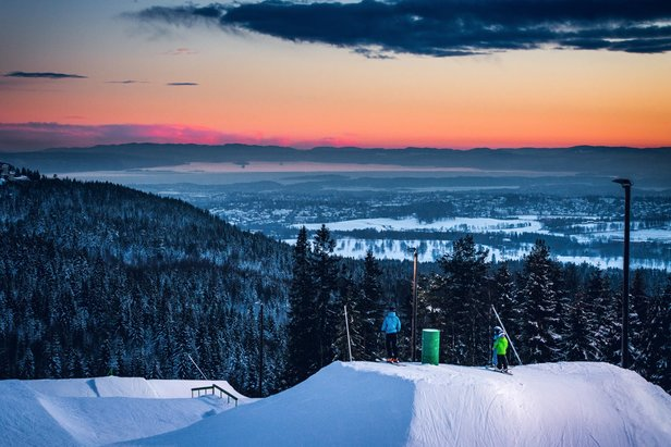 Fra og med onsdag 18. januar kan du starte dagen med denne utsikten i Oslo Vinterpark.