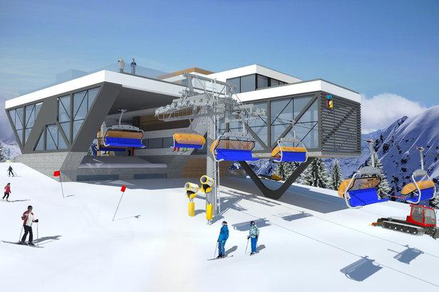 Górna stacja nowej 6-osobowej kanapy w orodku Kasina Ski  - © Kasina Ski