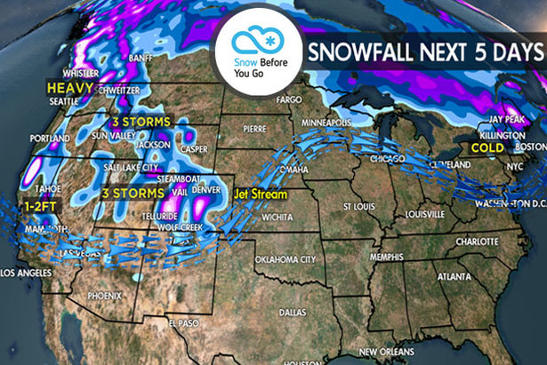 3.23 Snow Before You Go: 3 Storms & Heavy Snow Return to the West- ©Meteorologist Chris Tomer