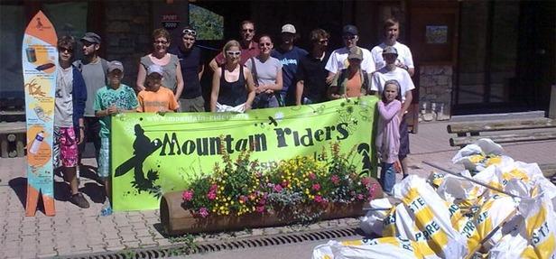 Mountain Rider, bilan 2009 ramassage déchets