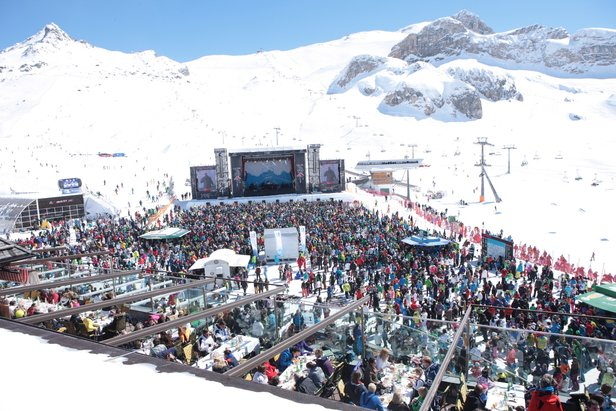 Koncert Top of the Mountains w Ischgl
