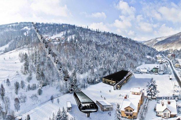 Vizualizácia - lyžiarske stredisko v poľskom Szczyrku - ©archív TMR