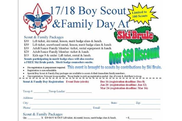 Ski Brule Boy Scout Merit Badge- ©Boy Scouts