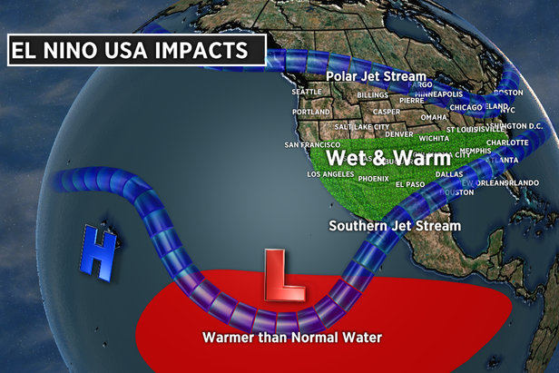 Warmer than normal water in the east-central equatorial Pacific Ocean is called El Niño.  - © Meteorologist Chris Tomer