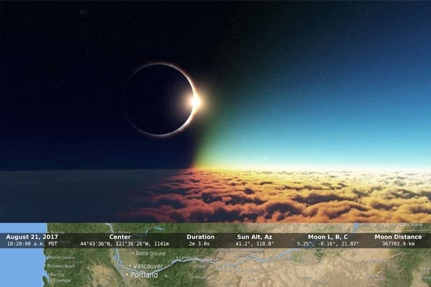 The Great American Eclipse zone of totality is just 15 miles from Mt. Hood Meadows as it passes through Oregon August 21.