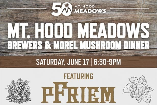 Morel mushroom and brewers dinner at Mt. Hood Meadows