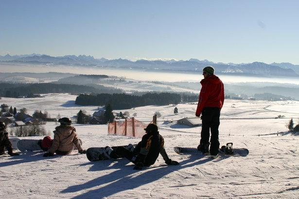 Snowboarder am Buchenberg