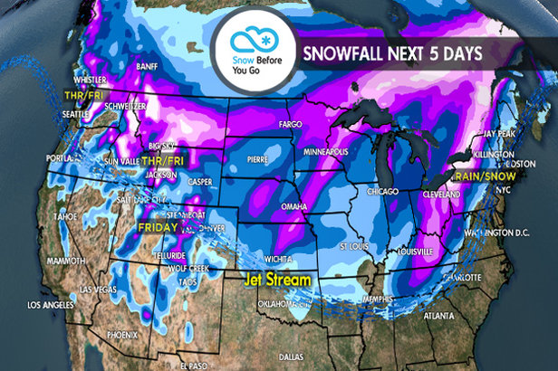 1.11 Snow Before You Go: Large Storms Target Parts of West & Northeast ©Meteorologist Chris Tomer