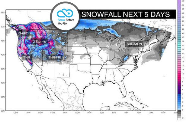 1.25 Snow Before You Go: 3-6 Feet for Parts of West- ©Meteorologist Chris Tomer