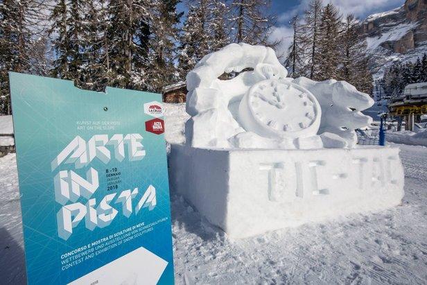 """Alta Badia - Le sculture di neve di """"Arte in pista"""""""