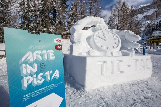 Alta Badia: le sculture di neve di Arte in Pista- ©Alta Badia Facebook