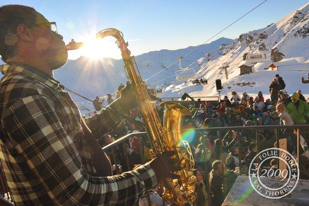 Après-ski in La Folie Douce  - © OT Val Thorens