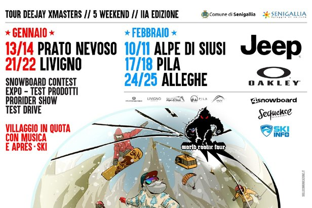 Ultima tappa del DEEJAY Xmasters Winter Tour ad Alleghe- ©www.xmasters.it