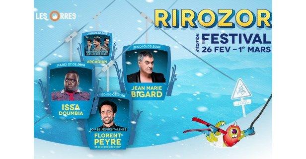 Les humoristes débarquent aux Orres pour du festival RIROZOR