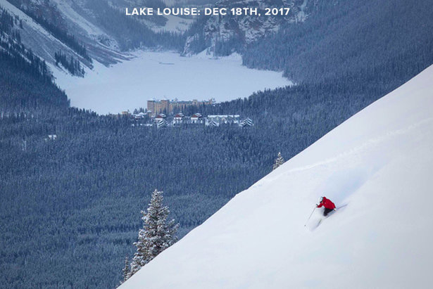 Powder Alert Happening Now in Banff & Lake Louise, Canada!- ©Chris Moseley