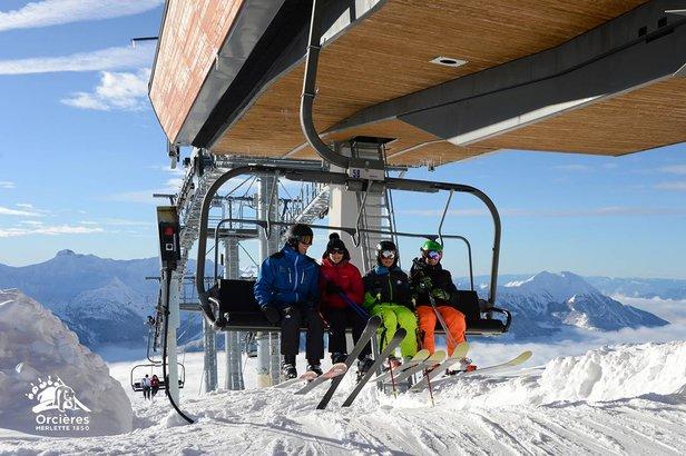 Ouverture du domaine skiable d'Orcières Merlette 1850- ©SEMILOM - Office de tourisme d'Orcières