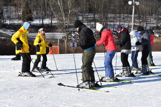 ski lesson at shawnee mountain