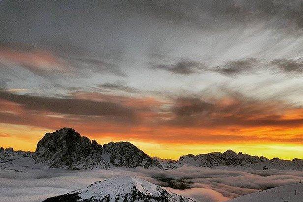 A sublime sunset at Sasso Lungo, Dolomites  - © Christina Demetz