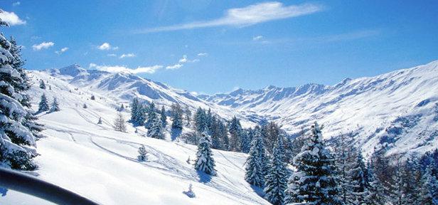 Genieten van de rust en natuurpracht van de skigebieden in het Mauriennedal. Op deze foto: Valmeinier