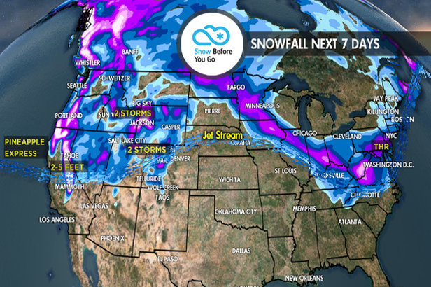 3.22 Snow Before You Go: Pineapple Express & Heavy Snow West- ©Meteorologist Chris Tomer