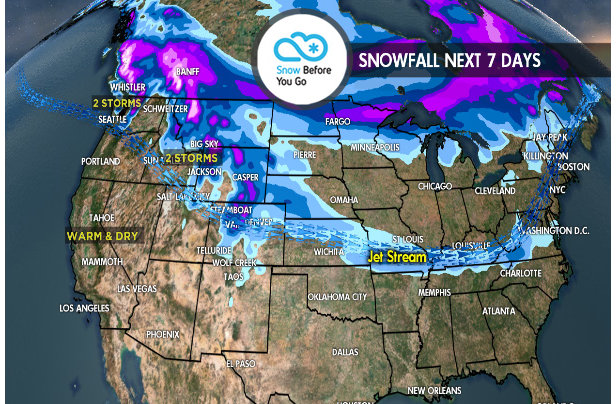 3.29 Snow Before You Go: 2 Storms for West- ©Meteorologist Chris Tomer
