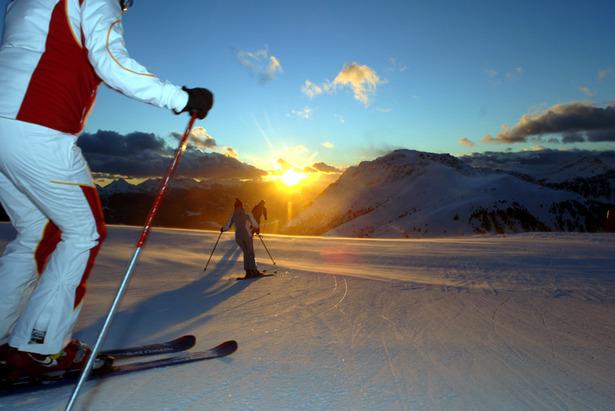Trentino bei Nacht - Skifahren unter winterlichem Sternenhimmel