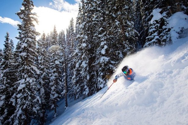 Aspen Snowmass has accumulated more than 100 inches of snow since October, 1.