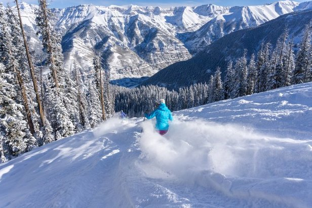 If you are looking for a groomer with fresh powder in Telluride, hit Bushwacker or the Plunge.