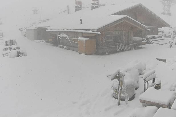 Front Inge prináša do Álp sneženie- ©Webcam Engelberg-Titlis