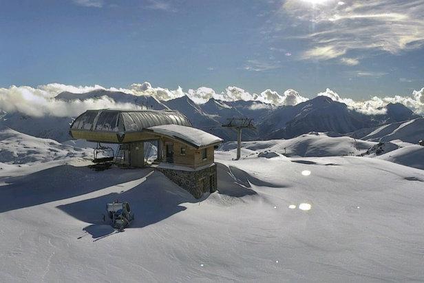Plus d'un mètre de neige cumulée sur le domaine d'Orcières Merlette 1850Webcam Orcières 1850