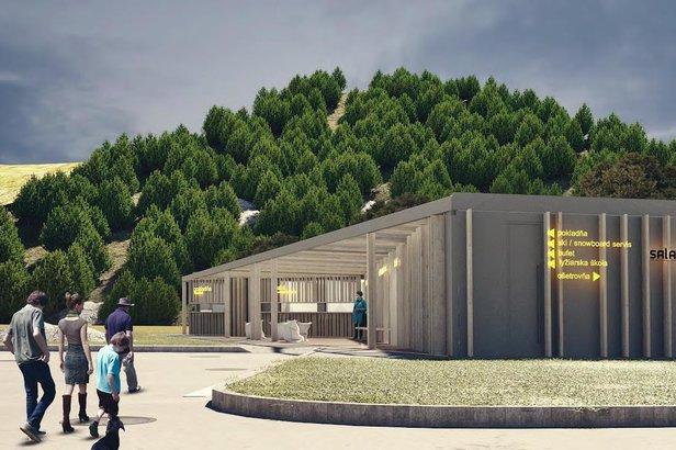 Salamandra Resort: Výstavba novej multifunkčnej budovy pri dojazde zjazdovky- ©Salamandra Resort