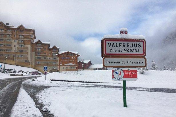 Schneebericht: Neuschnee im Alpenraum- ©Facebook @Valfrejus