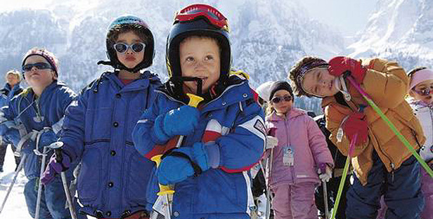 Trentino_Kinder Skifahrer