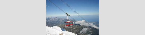 New cable car links ski slopes to Mediterranean's beaches