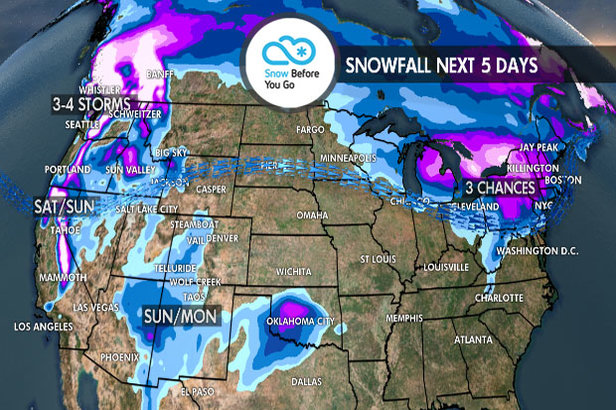 3-6 Feet to Wallop Parts of West: 1.3 Snow B4U Go- ©Meteorologist Chris Tomer
