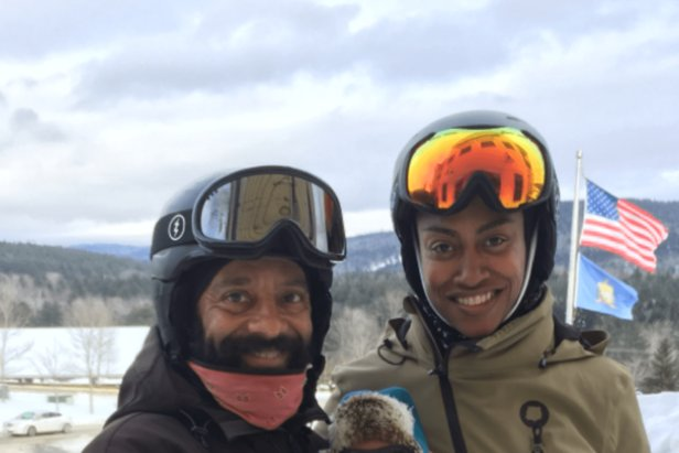 Bobby Johnson Jr. (left) is the first black man to head a ski school in Vermont