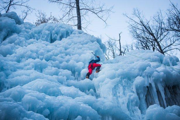 Cascade de glace pour les enfants