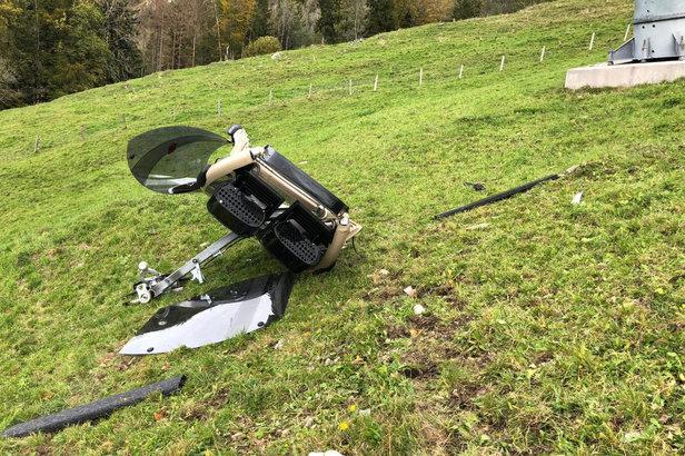 Schweiz: Gondel der Rotenfluebahn abgestürztKantonspolizei Schwyz